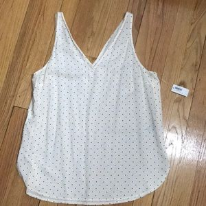Polka dot tank top